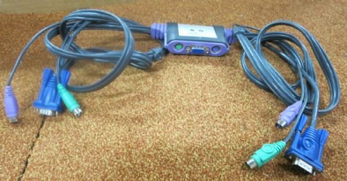 Aten CS-62A 4ft 2-Port /VGA/PS/2 Keyboard and Mouse KVM Switch Cable